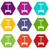 Hexahedron réglé de couleur de transport d'icône alternative de véhicule Photos libres de droits