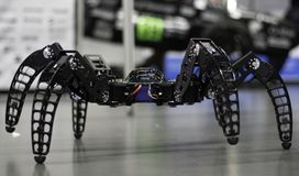 Hexapod Robot. STAVANGER, NORWAY - SEPTEMBER 02, 2017: Hexapod robot built by Kåre Halvorsen, aka Zenta, displayed at Create 2017, a festival for inventors and Stock Image