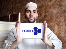 Hexcel Korporacja logo obrazy stock