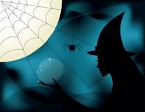 Hexe auf Halloween Stockfotos
