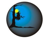 Hexe in der Kugel Stockfotografie