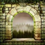 Hexe-Fenster stockfoto