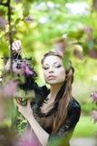 Hexe mit einem merkwürdigen Rahmen Stockfotografie