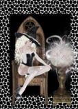 Hexe-und schauendes Glas-Hintergrund Stockbild
