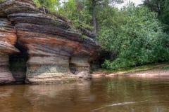 Hexen-Bergschlucht ist eine versteckte Anziehungskraft in Wisconsin-engen Tälern und kann stockbild