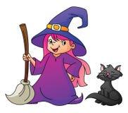 Hexen-Mädchen lizenzfreie abbildung