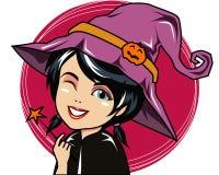 Hexen-Zeichentrickfilm-Figur Lizenzfreie Stockfotografie