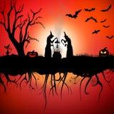 Hexenhalloween-Szene Stockbild