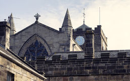 Hexham Abbey Clockface Royaltyfri Bild