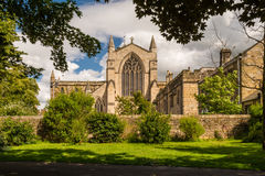 Hexham abbotskloster från det västra Royaltyfri Bild