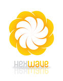 HexWave logo design Royalty Free Stock Photos