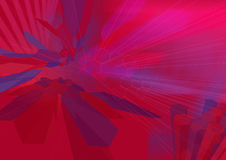 HexZoom2 wireframe - a series. Hexagon Zoom Red with wireframe A3. Use as is or overlay with text or other elements Royalty Free Stock Photo