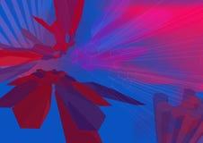HexZoom3 wireframe - uma série Imagem de Stock Royalty Free