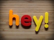 Hey или крикните вне Стоковое Фото