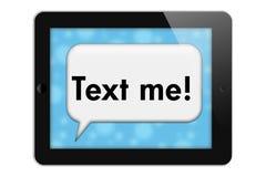 Hey отправьте СМС я Стоковые Изображения RF