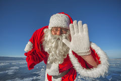 Hey, bambini Sono Santa Claus! Fotografie Stock