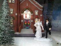 A beautiful Christmas wedding Stock Image