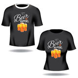 Hey beer happens tee shirts Royalty Free Stock Photos