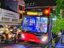 Public transportation of Surabaya stock images