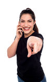 Hey caro, chamada para você! Imagem de Stock