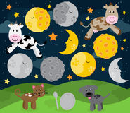 Hey Diddle Diddle Nursery Rhyme Landscape Stock Photos