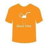 Hey goodtime coctail t shirt design EPS 10 vector Royalty Free Stock Photography