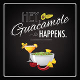 Hey guacamole happens Stock Image