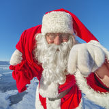 Hey, kids. I'm Santa Claus! Royalty Free Stock Photography