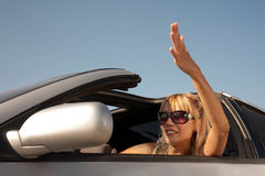 Hey! Move your car! Stock Photo