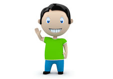 Hey! Social 3D characters Royalty Free Stock Image