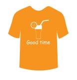 Hey vettore di progettazione ENV 10 della maglietta del coctail del goodtime Fotografia Stock Libera da Diritti