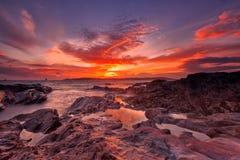 Heybrook Sonnenuntergang stockfotografie