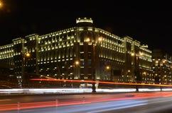 Heydar Aliyev Avenue in the evening.Baku,Azerbaijan stock photos