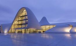 Heydar Aliyev Center a Bacu l'azerbaijan Fotografia Stock