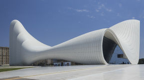 Heydar Aliyev Center in Baku Royalty Free Stock Photography