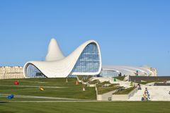 Heydar Aliyev Center, Baku, Azerbaijan Stock Photos