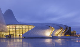 Heydar Aliyev Center em Baku azerbaijan Imagens de Stock