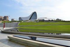 Heydar Aliyev Center. Exhibition gallery in Baku Stock Image