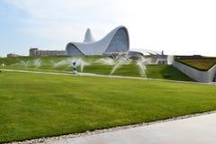 Heydar Aliyev Center. Exhibition gallery in Baku Stock Photos