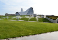 Heydar Aliyev Center. Exhibition gallery in Baku Royalty Free Stock Images