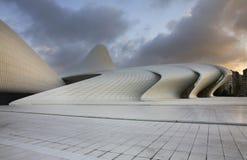Heydar Aliyev Center i Baku _ Royaltyfria Bilder