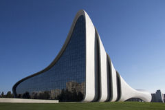 Heydar Aliyev Center op 18 September, 2016 in Baku, Azerbeidzjan Royalty-vrije Stock Foto