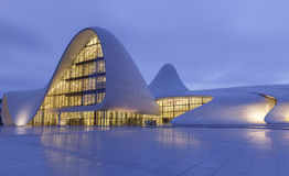 Heydar Aliyev centrum w Baku Azerbejdżan Zdjęcie Stock