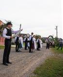 HEYIVCI UKRAINA, WRZESIEŃ, - 09, 2016: Żniwo dnia świętowanie wewnątrz Zdjęcie Stock