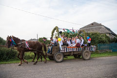 HEYIVCI,UKRAINE - SEPTEMBER 09, 2016: Harvest day celebration in Royalty Free Stock Images