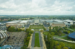 Heysel Palais from the Atomiun, Brussels, Belgium Stock Images