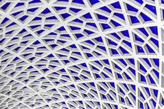 Hexagonal pattern detail. Architectural detail texture background with oriental style hexagonal grid pattern stock photography