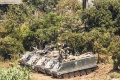 Hezbollah en de oorlog van Israël in 2006 Stock Afbeeldingen
