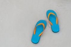 Häftklammermatare för bästa sikt på sand Fotografering för Bildbyråer