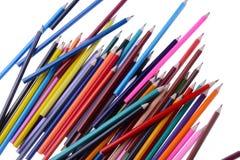 Hög av färgläggningblyertspennor Fotografering för Bildbyråer